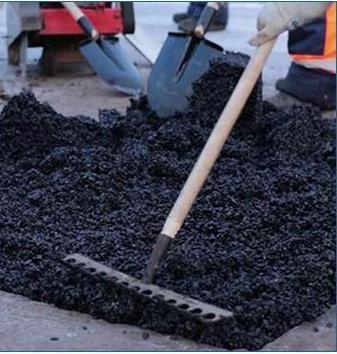 沥青冷补料修补坑槽施工流程