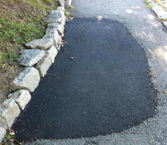 沥青冷补料路面修补施工工艺