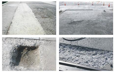 混凝土路面修补料的性能